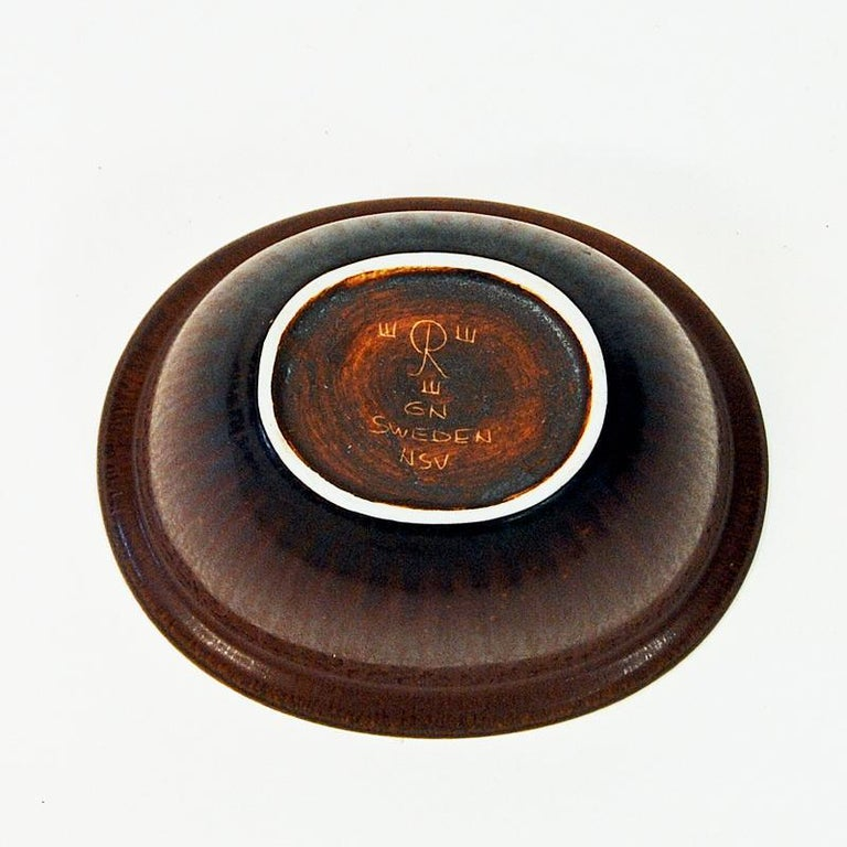 Mid-20th Century Vintage Petite Ceramic Bowl by Gunnar Nylund, 1950s Rörstrand, Sweden For Sale