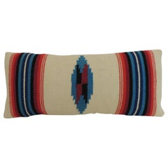 Vintage Petite Southwestern Woven Wool Decorative Lumbar Pillow