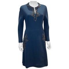 Vintage Petrol Blue Cocktail Dress by  Assutina Alta Moda