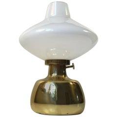 Vintage Petronella Oil Lamp in Brass by Henning Koppel for Louis Poulsen, 1970s