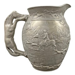 Vintage Pewter Hunt Pitcher