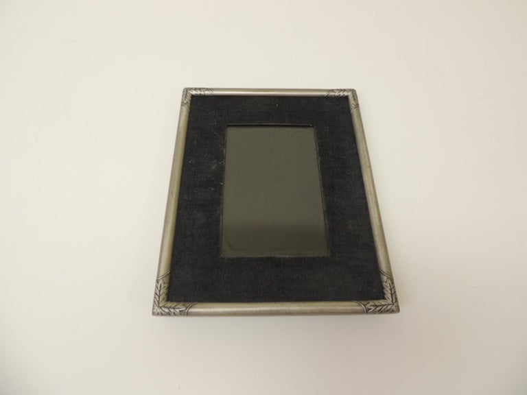 Country Vintage Pewter Picture Frame For Sale