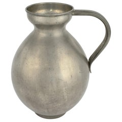 Vintage Pewter Vase with Handles by Harald Buchrucker, Germany, 1930s