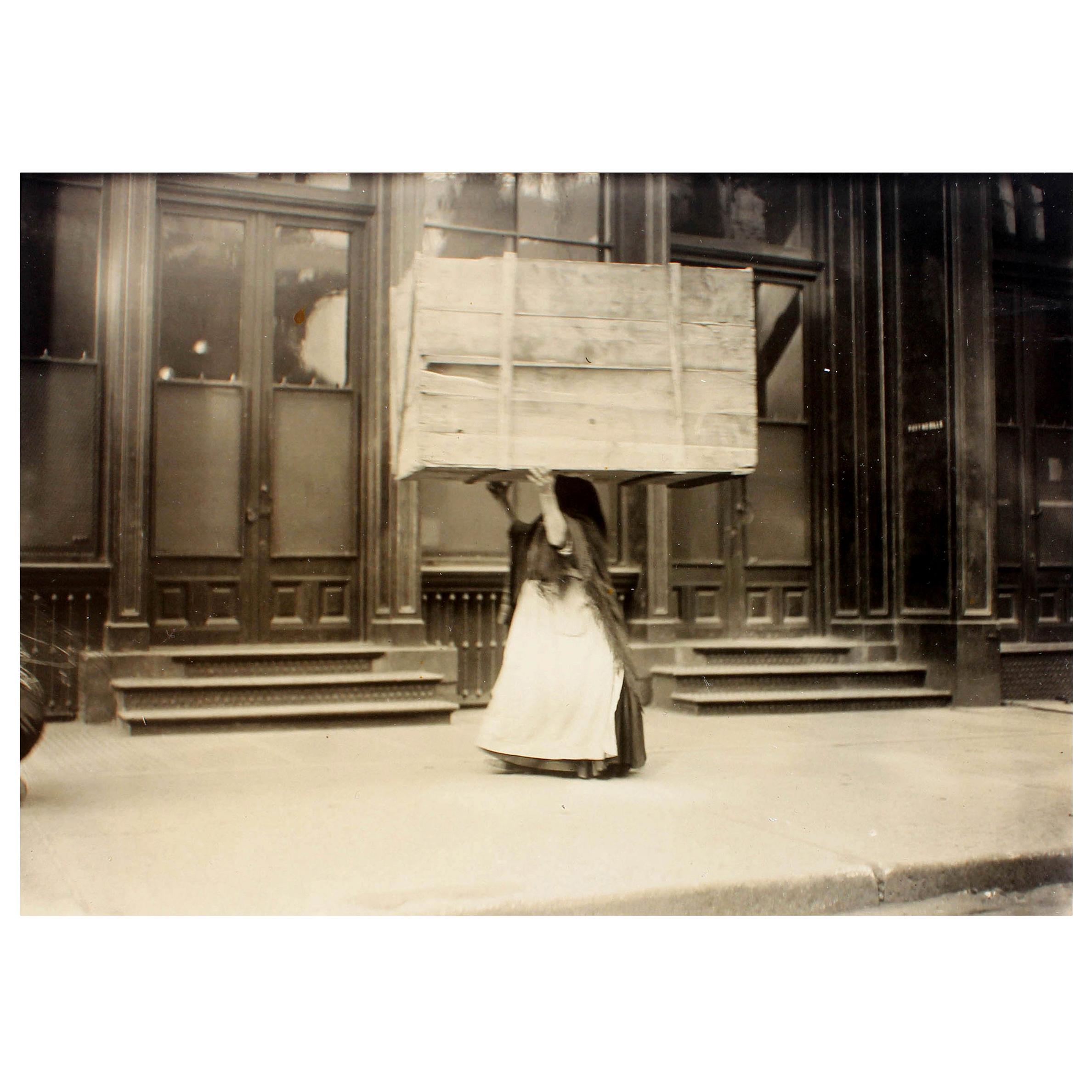 "Vintage Photograph ""Bringing Kindling Home"" by Lewis Wickes Hine"