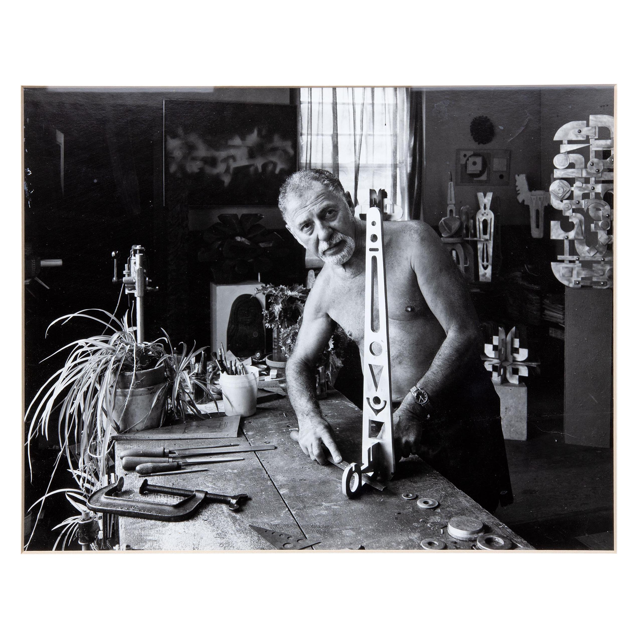Vintage Photograph of a Modern Sculptor