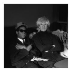 "Vintage Photograph of ""Jean-Michel Basquiat & Andy Warhol"""