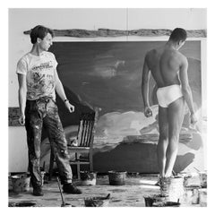 "Vintage Photograph of ""Rainer Fetting and Desmond, 1984, NYC"""