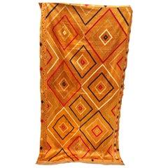 Vintage Phulkari Bagh Silk Embroidered Wedding Shawl from Punjab, India