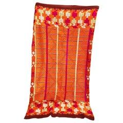 Vintage Phulkari Bagh Wedding Shawl with Silk Hand Embroidery, Punjab, India
