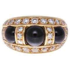 Vintage Piaget 18 Karat Gold and Onyx Ring