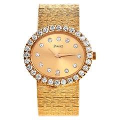 Vintage Piaget Depose Collection Diamond 18K Gold Ladies Watch