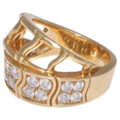 Vintage Piaget Diamond 18 Karat Gold Ring