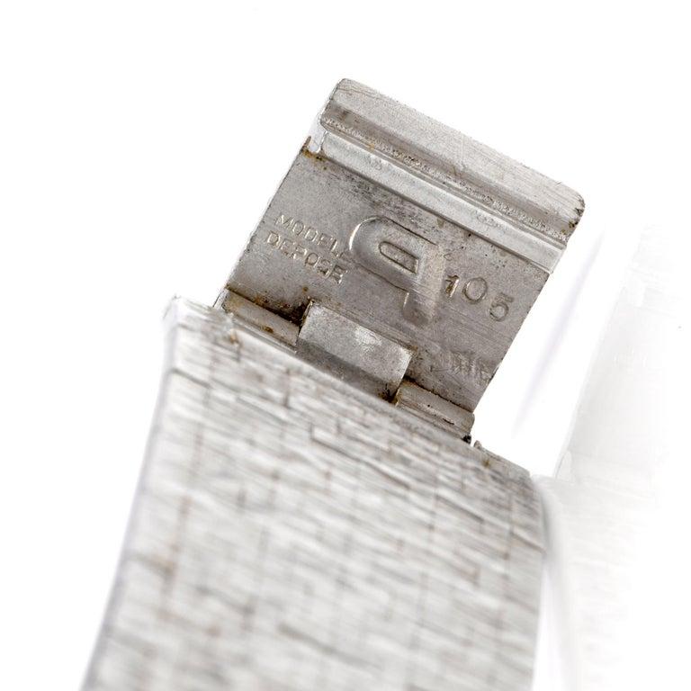 Vintage Piaget Diamond Lapis Dial 18 Karat White Gold Ladies Watch For Sale 1