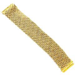 Vintage Piaget Gold Mesh Bracelet