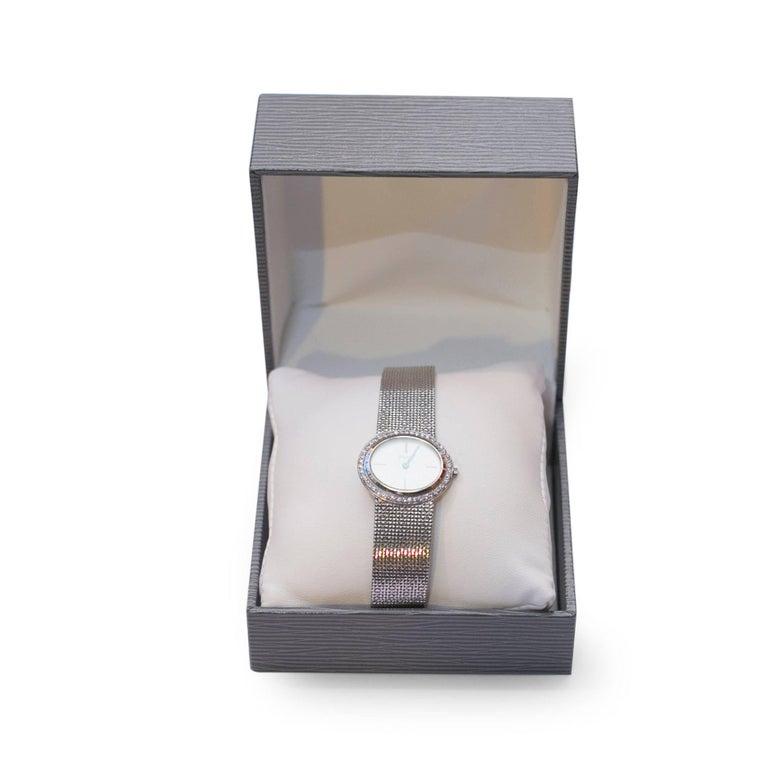 Contemporary Vintage Piaget Ladies Altiplano 18 Karat White Gold Diamonds Wristwatch