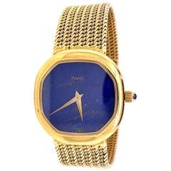 Vintage Piaget Lapis Lazuli 18 Karat Gold Watch