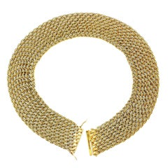 Vintage Piaget Mesh Gold Collar Necklace