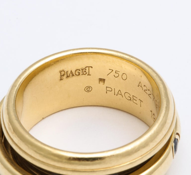 Vintage Piaget Sapphire and 18 Karat Gold For Sale 1