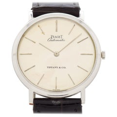 Vintage Piaget Ultra-Thinomatic 18 Karat Gold Watch Retailed by Tiffany & Co.