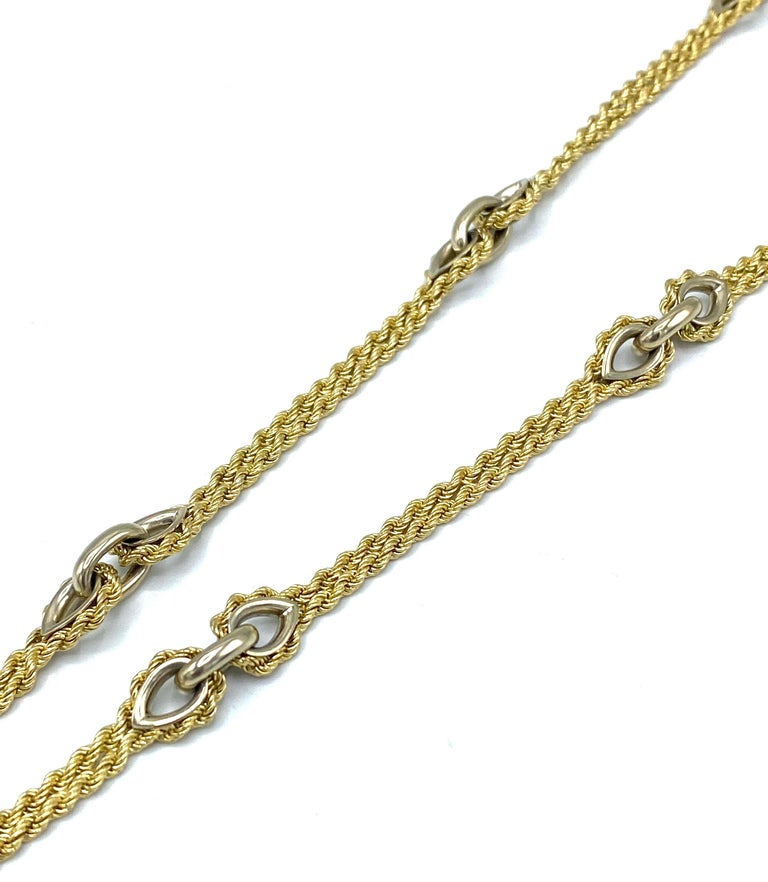 Oval Cut Vintage Piaget Yellow Gold and Lapis  Anchor Penchant Chain Necklace For Sale