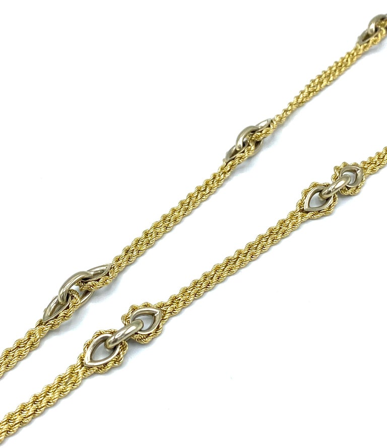 Vintage Piaget Yellow Gold and Lapis  Anchor Penchant Chain Necklace In Excellent Condition For Sale In Beverly Hills, CA