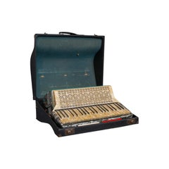 Vintage Piano Accordion, German, Squeezebox, Meinel and Herold, Dix Reeds
