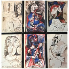 "Vintage Picasso Exhibition Poster Pace Gallery 1986 ""Sketchbooks of Picasso"""