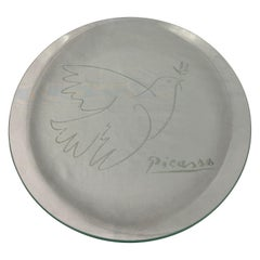 Vintage Picasso Glass Plate