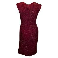 Vintage Pichat Chaleard Rasberry Cocktail Dress