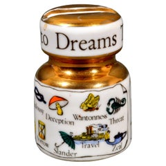 """Vintage Piero Fornasetti Insulator Paperweight """"The New Key To Dreams"""""""