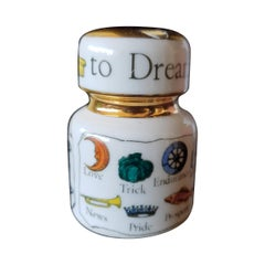 Vintage Piero Fornasetti Insulator Paperweight, The New Key To Dreams, Late 1950