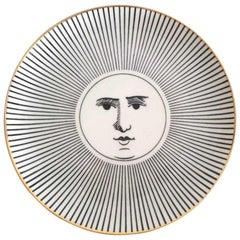 Vintage Piero Fornasetti Soli E Lune Pattern Plate, #2 in Series, 1970s