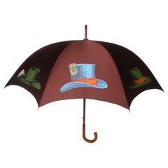 Vintage Piero Fornasetti Trompe L'oeil 'Cappelli' Hats Umbrella