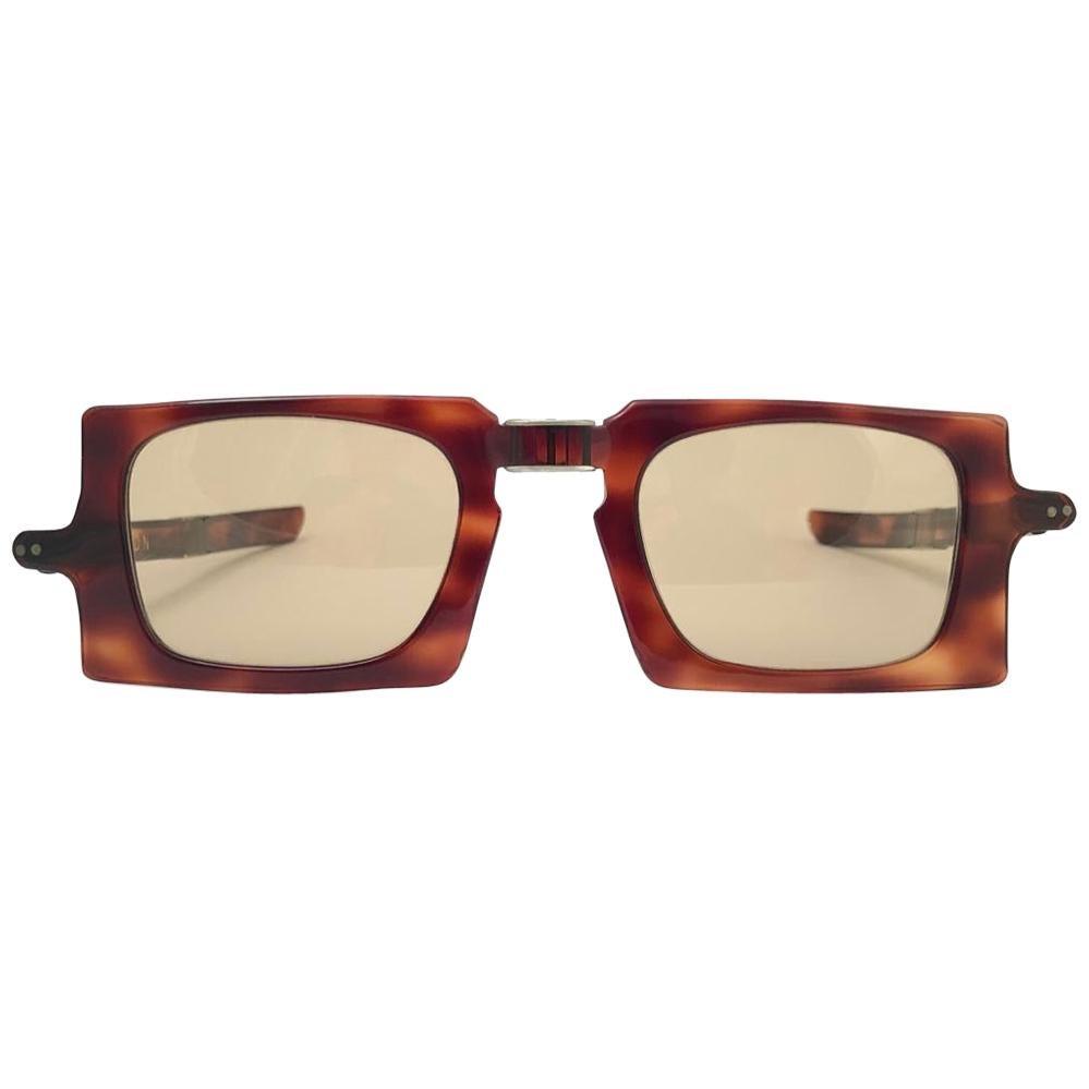 Vintage Pierre Cardin Tortoise Foldable Collectors Item 1960's France sunglasses