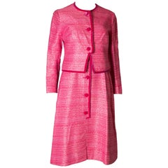 Vintage Pierre Celeyre Pink Dress and Jacket