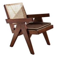 Vintage Pierre Jeanneret Teak Lounge Easy Armchair, Mid-Century, Chandigarh
