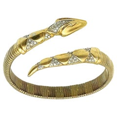 Vintage Pierre Lang Gold Serpent Bangle 1990s