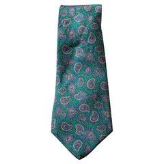 Vintage Pierre Lorrain 100% silk tie with paisley motifs