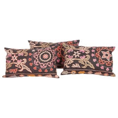 Vintage Pillow Cases Fashioned from a Kyrgyz or Kazak Embroidery
