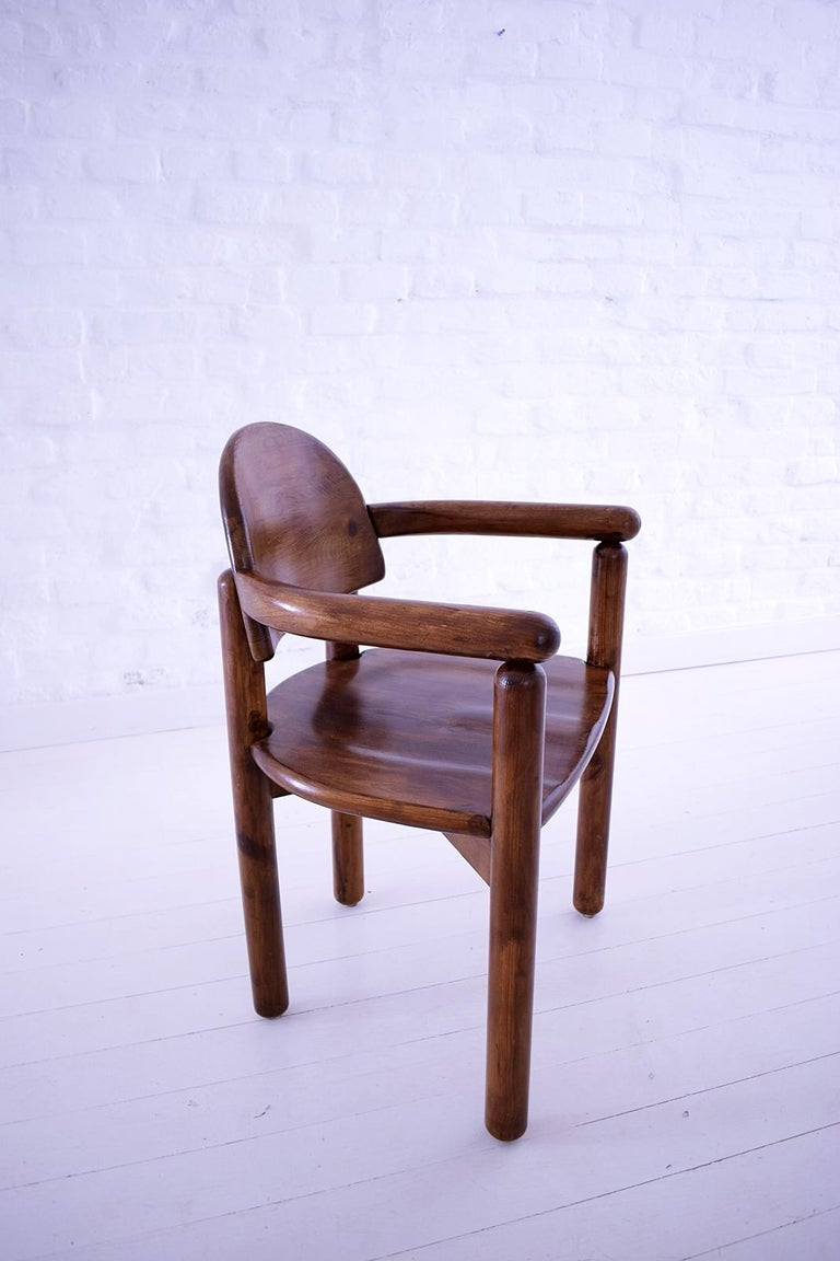 Vintage Pine Carver Dining Chair By Rainer Daumiller Denmark 1970 For Sale At 1stdibs