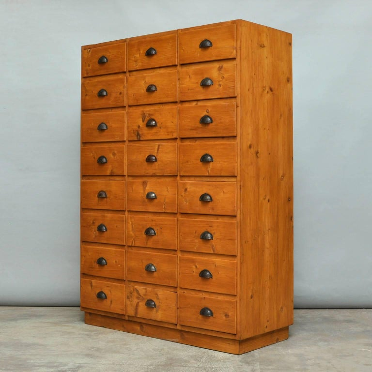 Industrial Vintage Pine Chest of Drawers, 1940s For Sale