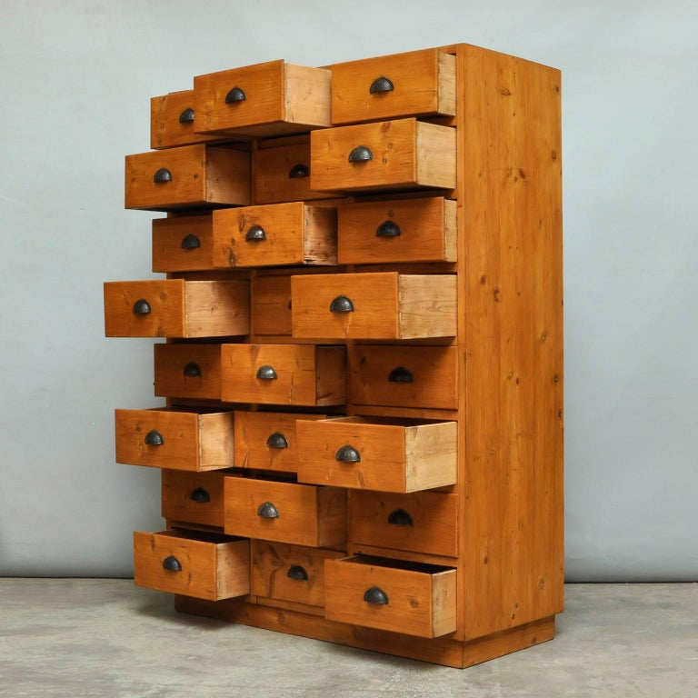 German Vintage Pine Chest of Drawers, 1940s For Sale