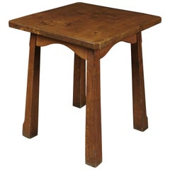 Vintage Pine Reconstruction Table from France, circa 1950