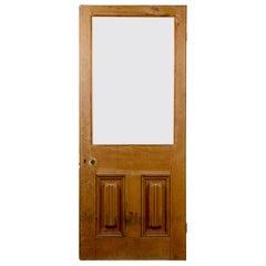 Vintage Pine Single Glazed Panel Door, 20th Century