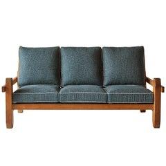 Vintage Pine Sofa in the Style of Ate van Apeldoorn