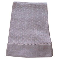 Vintage Pink and White Woven Bathroom Guest Towel