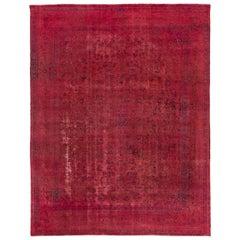 Vintage Pink Distressed Overdyed Rug