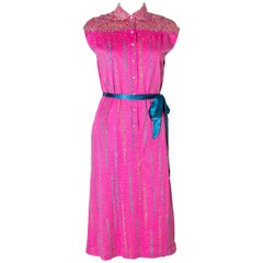 Vintage Pink Fink Cotton Jersey  Day Dress