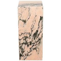 Vintage Pink Marble Rectangular Plinth