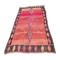 Vintage Pink Moroccan Rug